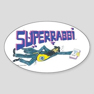 Superrabbi (SUPER RABBI) Oval Sticker