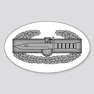 Combat Action Badge Sticker (Oval)