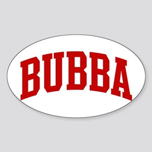 BUBBA (red) Oval Sticker