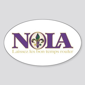 NOLA Mardi Gras Oval Sticker