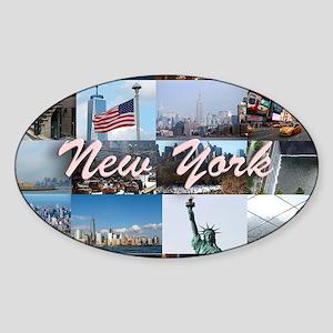 New York Pro Photo Montage-Stunning Sticker (Oval)