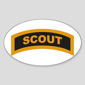 Scout Tab Oval Sticker
