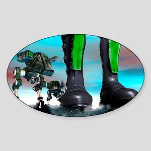 Military robots Sticker (Oval)