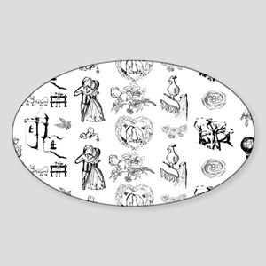MyBlackToile Sticker (Oval)