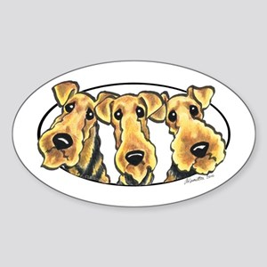 Airedale Terrier Lover Sticker (Oval)