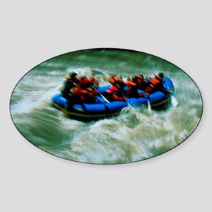 White water rafting Sticker (Oval)