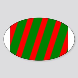 Holidays Red Green Striped Christmas 4Nora Sticker