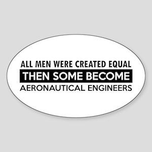 Aeronautical Engineer Designs Sticker (Oval)