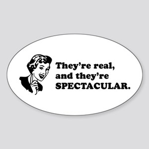 They're Spectacular Retro Oval Sticker