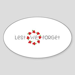 Lest we forget Sticker