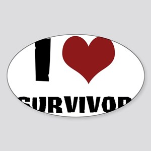 I Love Survivor Sticker (Oval)