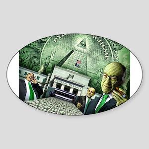 Pyramid Scheme Oval Sticker