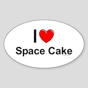 Space Cake Sticker (Oval)