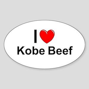 Kobe Beef Sticker (Oval)