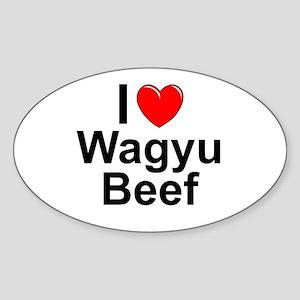 Wagyu Beef Sticker (Oval)
