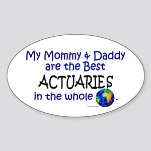 Best Actuaries In The World Oval Sticker