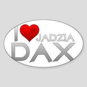 I Heart Jadzai Dax Sticker (Oval)