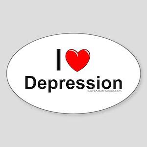 Depression Sticker (Oval)