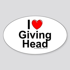 Giving Head Sticker (Oval)