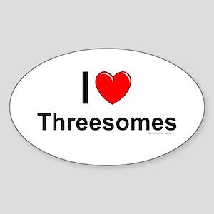 Threesomes Sticker (Oval)