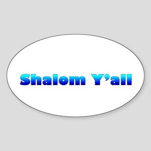 Shalom Y'all Oval Sticker