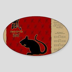 czodiac-01-rat Sticker (Oval)