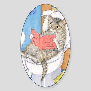 Cat 535 Sticker (Oval)