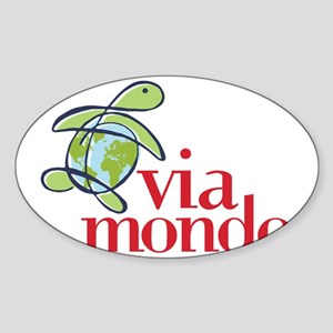 Via Mondo Sticker (Oval)
