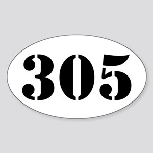 305 Army Style Oval Sticker