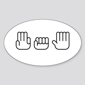 305 Hands Style Oval Sticker