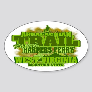 Appalachian Trail, West Virginia Oval Sticker