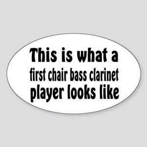 Bass Clarinet Oval Sticker