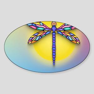 MP-Dragonfly1-SUN-gr1 Sticker (Oval)