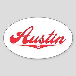 Austin TX Oval Sticker
