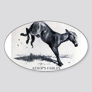 Harrison Weir - The Mule - Aesop - 1867 Sticker
