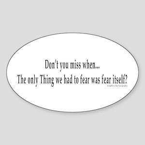 Fear Oval Sticker