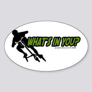 WHAT'S IN YOU? Oval Sticker
