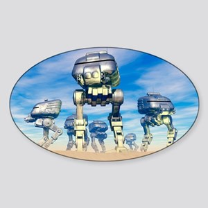 Robot army Sticker (Oval)
