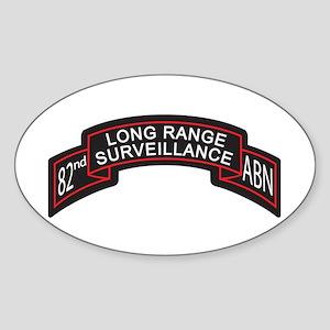 82nd Airborne LRS Scroll, Clr Oval Sticker