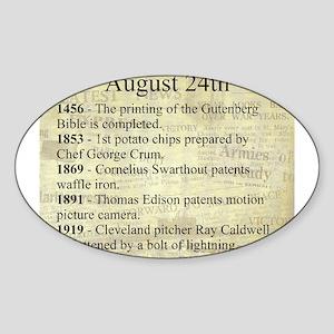 August 24th Sticker