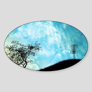 Basket On A Hill #2 Sticker (Oval)