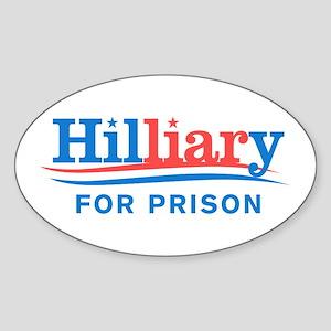 Liar Hillary For Prison Sticker