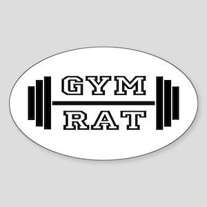 GYM RAT Oval Sticker