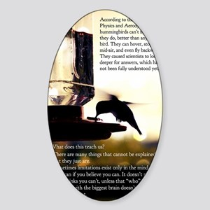 Hummingbird Poster Sticker (Oval)