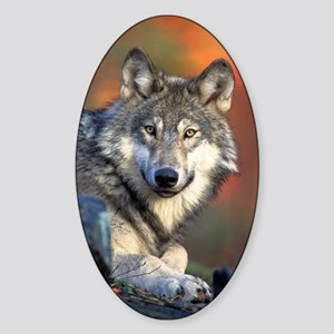 Wolf Wolves Lovers Sticker (Oval)