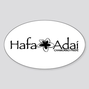 Hafa Adai from Chamorro Pride Sticker (Oval)