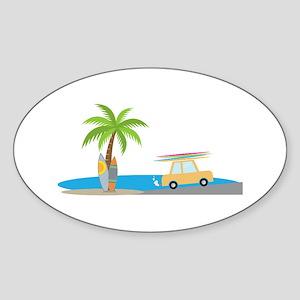 Surfer Beach Sticker
