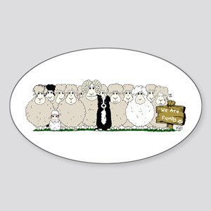 Sheep Family Sticker (oval)