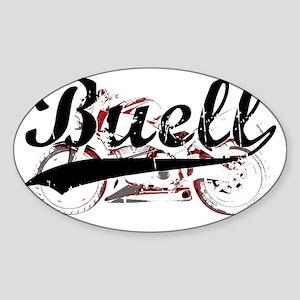 Buell_Script Sticker (Oval)