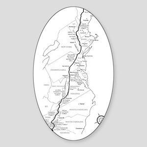 Appalachian Trail Map Sticker (Oval)